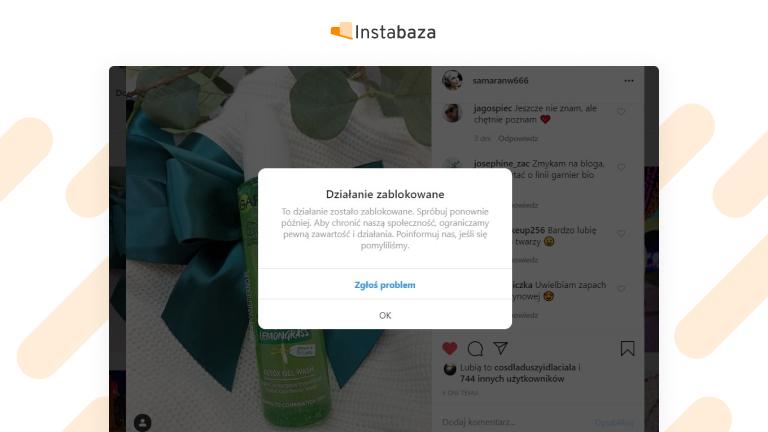 Limity na Instagramie dotyczące aktywności