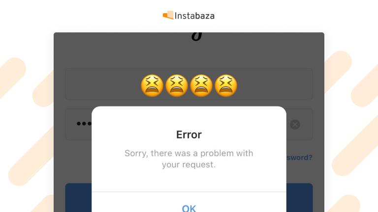 Błąd na Instagramie